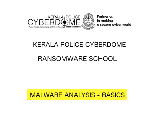 CyberDome Malware Analysis Basics Workshop